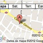 Mapa showroom de moda en Madrid Marga Láriz